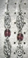 Chainmaille Earring 10 by Des804