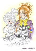 Doll and Joker by LiaDeBeaumont