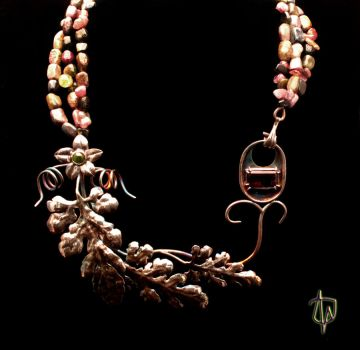 Watermelon Vine Necklace by CosmicFolklore