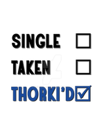 Single Taken Thorki'd - Tee #1 by Golubaja
