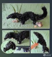 OOAK Black Dragon Commission by LimitlessEndeavours