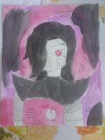 Undertale Mettaton Watercolor Paint by NickyW093