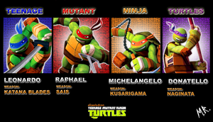 TEENAGE MUTANT NINJA TURTLES 2012 by ShadowNinja976