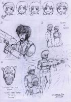 Sketches Compilation- Gundam SEED Edition #2 by VoltsPower2K