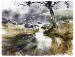 Digital Watercolor test by tonyhurst