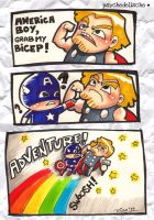Thor's Mighty Bicep Adventure by rianbowart