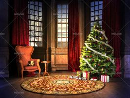 Christmas Room 01 by Trisste-stocks