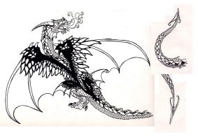 Dragon Tattoo for a Sister by Dragonmistral