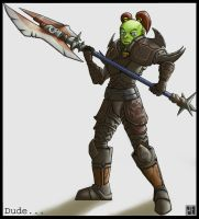 Orc Warrior Hoodrch by MechaBuggy
