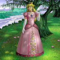 Princess Peach by AlanGutierrezArt