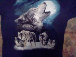 my new wolf t-shirt by Kingdomhearts1994