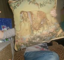 I love this pillow. Too I want by city-dust
