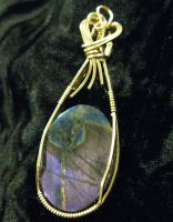 and another purple feldspar by DPBJewelry