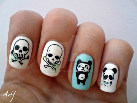 Dead Panda Nail Design 1 by AnyRainbow