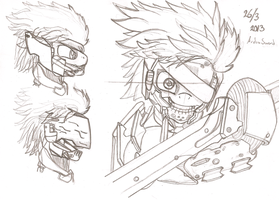 Metal Gear Pony: Revengeance - Raiden - Sketch by ArdonSword