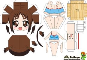 Hinako papertoy by ELJOEYDESIGNS