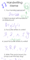 Ugly Handwriting Meme by Zenzes