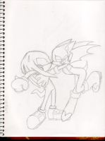 Knuckles and Rouge by Sparky2hot4ya