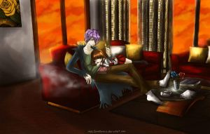 Ib and Garry II (I dont like this one) by MelSpontaneus