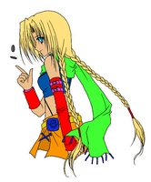 anime Girl Colored(flat) by sarwansingh