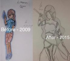 Aluna - before and after by videogamemaniac001
