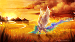 MLP C: Celestia : Ascension by AquaGalaxy