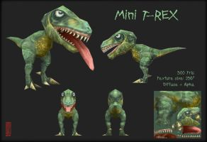Mini T-REX textured by Imogia