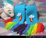 Rainbow Dash Scarf 1 by SmilingMoonCreations