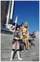Youmacon 2011: Rikku and Yuffie by LadyEmrys