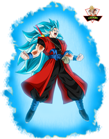 Goku Xeno Ssj3 Blue by lucario-strike