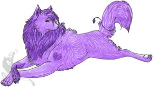 Purple Wolf Request by Lainesse
