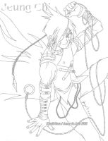Uncolored: Jeung Chi by MysticYuna