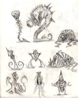 Doodles- Monsters by BunnyBennett