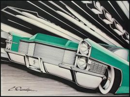 65 Cadillac (Marker) by PinstripeChris