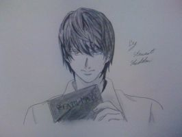 Light Yagami with his weapon from Death Note by captonstu