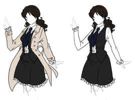 Clothing Designs - Castiel Dress by BakaNekoSango