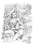 Red Sonja_Sketch by pipin