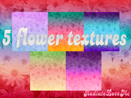 5 Flowers Textures. by radiatelovemc
