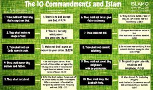 10 Commandments and Islam by islamographic