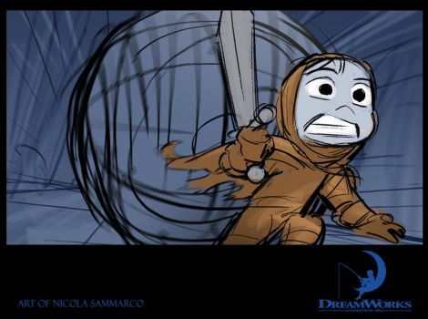 Dreamworks - Storyboard for Story Trainee by nicolasammarco