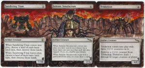 Magic Card Alteration: Solemn Simulacrum and pals by Ondal-the-Fool