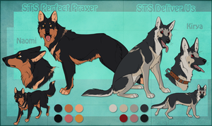 STS Dogs - Naomi and Kirya by ShockTherapyStables