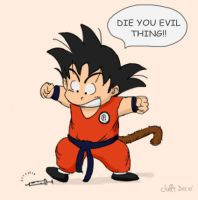 Goku Don't Like Needles by Juffs