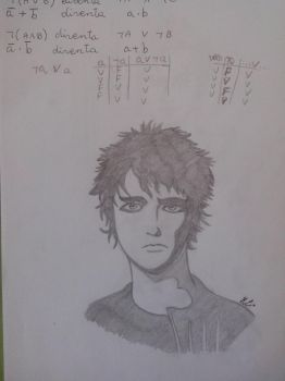 Billie Joe Armstrong (only a pencil) 2 by Mich-C