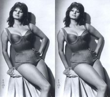 3d Busty Sophia Loren Corseted Swimsuit by 3dpinup