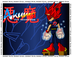 Akuma the hedgehog by Gaminefans