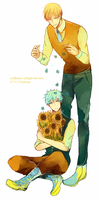 sunflowers and forget me nots by kyunyo