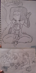 Steven universe n Clarence Xover sketch by MariaMarcuu