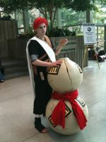 Gaara with huge gourd by LeonKSpiderKitty