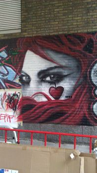 An Emilie Autumn Graffiti Painting by MssMime